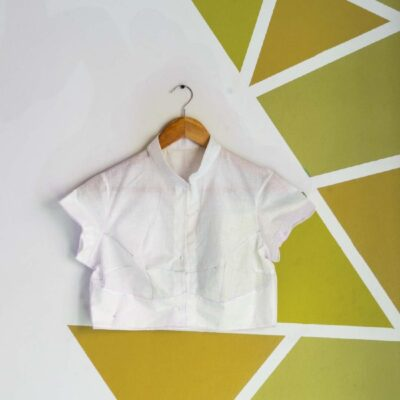 Four Darted Collar Neck Blouse